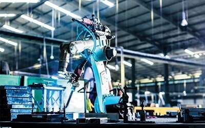 Robot being used in a manufacturing setting