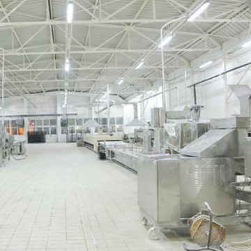 Equipment in a bakery food production facility